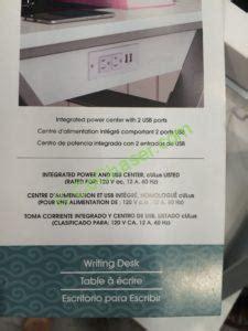 bayside furnishings white wood desk costco 722459 bayside furnishings white wood desk spec