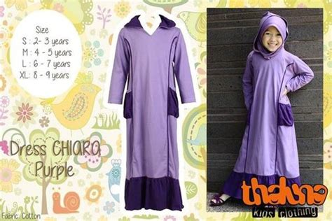 Dress Anak Dress Raqila Smlxl Thaluna Gamis Anak Katun abaya baju muslim anak perempuan gamis syar i anak thaluna cantik branded murah
