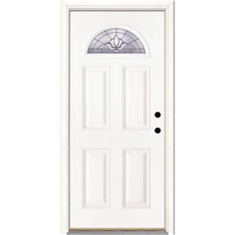 feather river doors 37 5 in x 81 625 in medina zinc fan