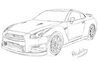 Nissan Gtr Drawing Nissan Gtr Drawing By Revolut3 On Deviantart