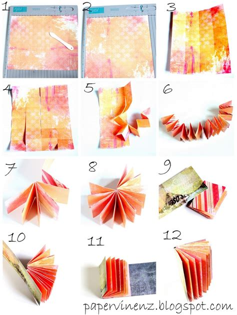 How To Make Mini Books Out Of Paper - mini album tutorial a 2 quot x 2 5 quot book made from 1 sheet of
