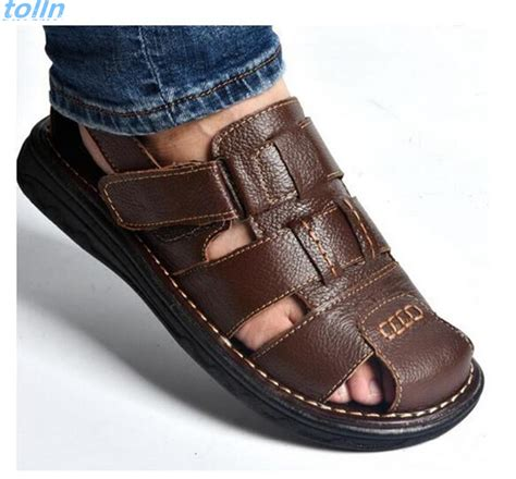 sandals slippers free shipping 2017summer mens sandals slippers genuine