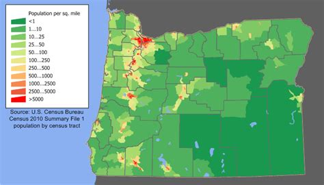 map of oregon elevation what is the most urbanized state general u s page 6