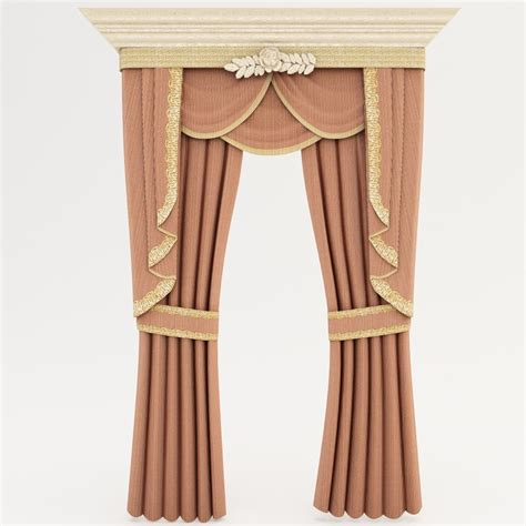 classic draperies 3d classic curtains interior 2
