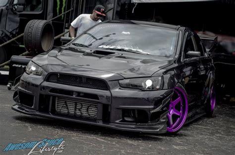 purple mitsubishi lancer midnight black mitsubishi evolution ii cool rides