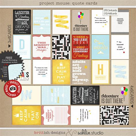 printable quotes for project life project mouse quote cards by britt ish designs and sahlin