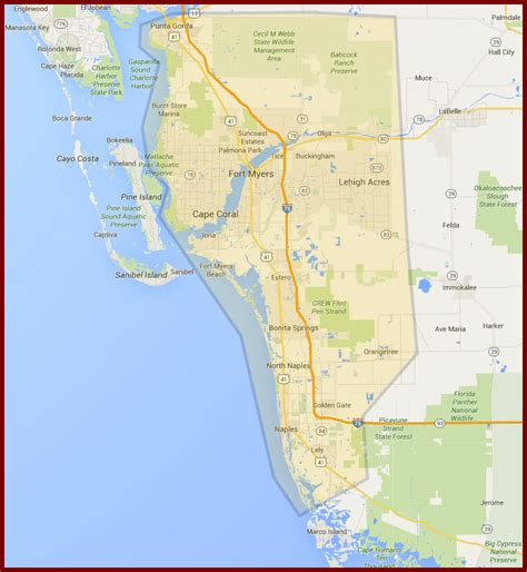 map of southwest florida fort myers cape coral naples plumber service area dalco