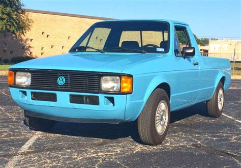 1981 volkswagen rabbit truck volkswagen rabbit truck 1981 blue for sale