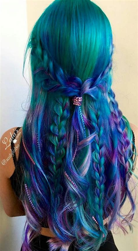 dyed hairstyles purple green purple dyed hair color inspiration dyed hair