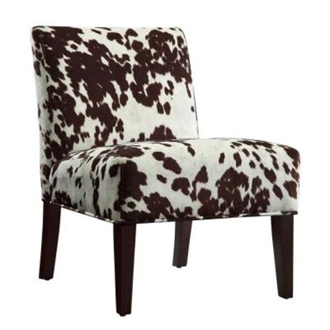 Cowhide Accent Chair homesullivan cowhide print accent chair 40468f23s 3a the home depot