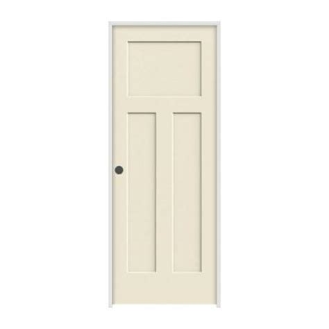 interior doors home depot jeld wen 36 in x 80 in molded smooth 3 panel craftsman primed white solid composite