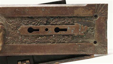 And The Beast Door Knob For Sale by Antique Corbin Fanciful Beast Bronze Door Set Olde