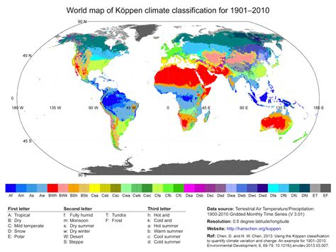 california climate map koppen geography of greece