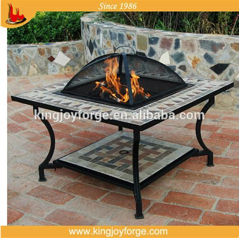 Firepit Ceramics Kingjoy Outdoor Ceramic Table Pit With Bbq Grill 650834 Buy Outdoor Pit Pottery