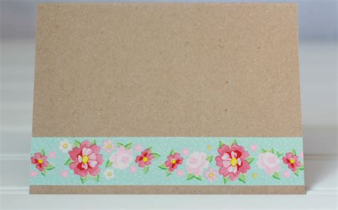 Papers For Card - washi embellished handmade cards
