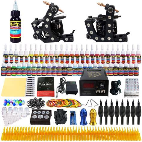 tattoo kit ebay ca complete tattoo kit 2 professional machine guns 54 inks