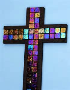sparkling cross glittering cross mosaic tile cross