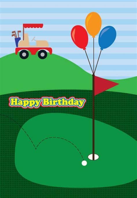 free printable golf greeting cards golf birthday card birthday celebrations pinterest