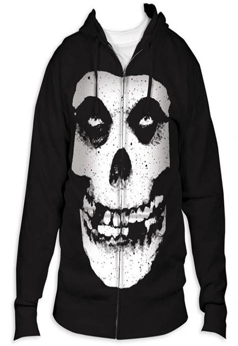Zipper Hoodie Misfits the misfits fiend skull zip up hoodie new s m l xl danzig authentic ebay