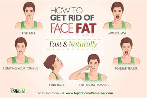 how to get rid of fat how to get rid of face fat fast and naturally pinlavie com