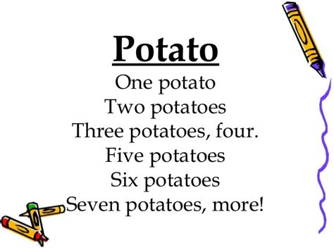 Potato Lyrics by Songs And Rhymes