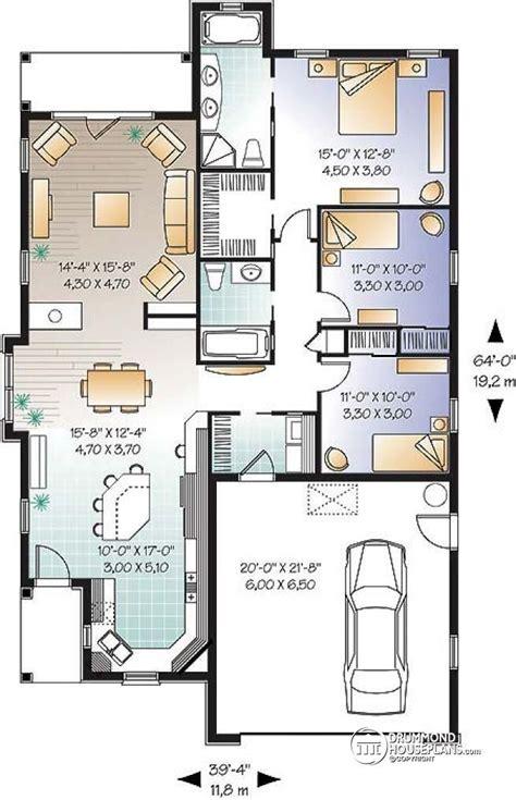double garage plans w3248 mediteranean 3 bedroom single storey with double