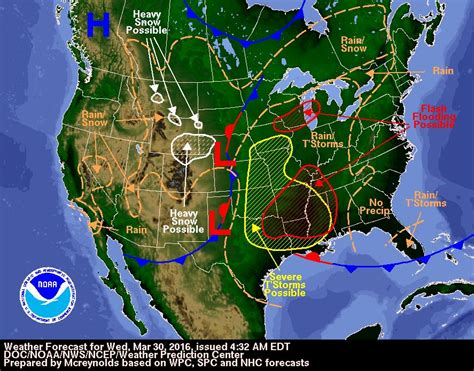 us weather map 3 day forecast weather forecast and severe weather outlook for wednesday