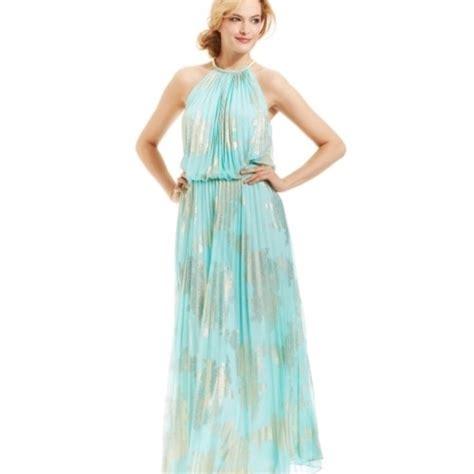 Gold Floor Length Dress by 53 Msk Dresses Skirts Blue Gold Floor Length