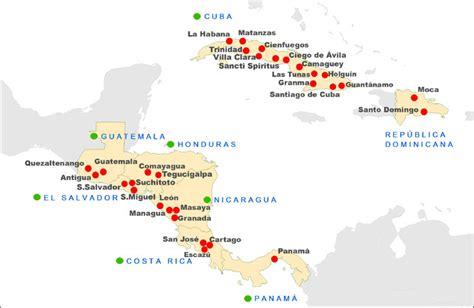 mapa america central y antillas brasandes ag 234 ncia de viagens e turismo brasandes operador