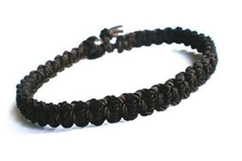 Handmade Hemp Bracelets - hempnotic jewelry 030612 black on black hemp bracelet
