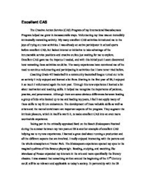Baccalaureate Reflective Essay by Cas Ib Report 2 International Baccalaureate Misc Marked By Teachers