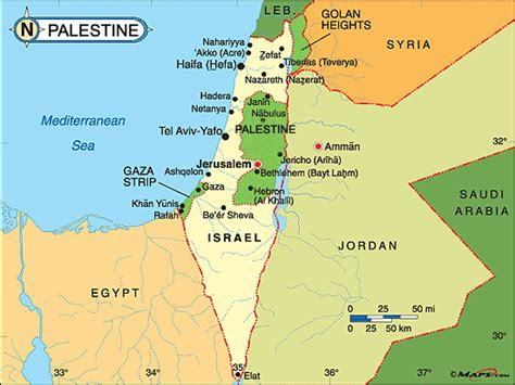 map of israel and palestine palestine carte touristique