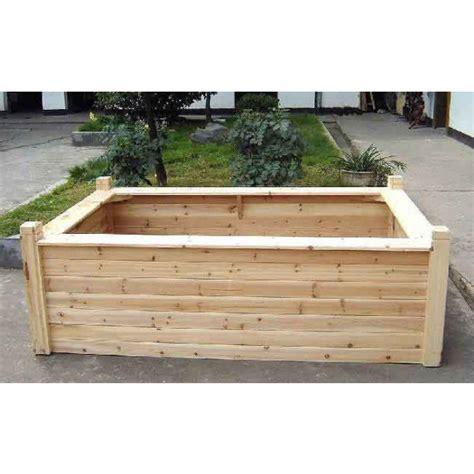 cedar post bed wooden seated raised bed cedar raised beds raised beds