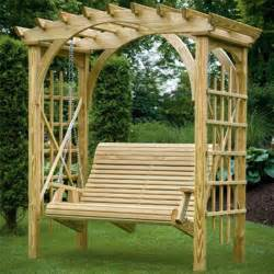 Swing Pergola Plans by Diy Pergola With Swing Furnitureplans