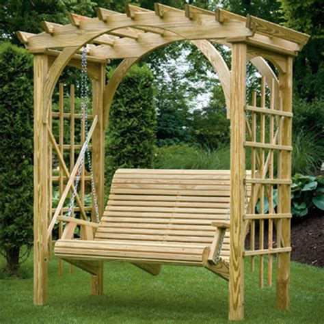 swing with pergola diy pergola with swing furnitureplans