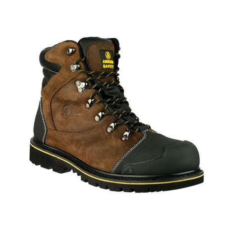 footwear boots amblers fs227 waterproof brown safety work boots