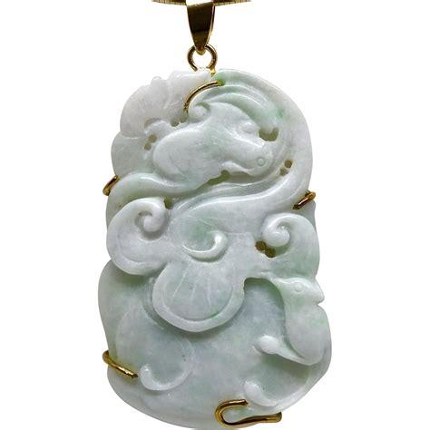 Carved Jade vintage carved jade pendant from carolbarrettjewelry on