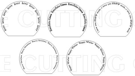 The Cutting Cafe Snow Globe Shaped Card Template Cutting File Snow Globe Card Template