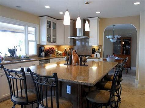 large kitchen island table picture of traditional kitchen islands dining table