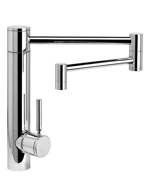 articulated kitchen faucet hunley kitchen faucet 18 quot articulated spout waterstone