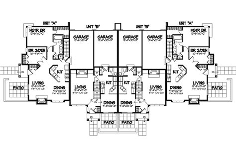fourplex plans fourplex house plans fourplex townhouse house plan
