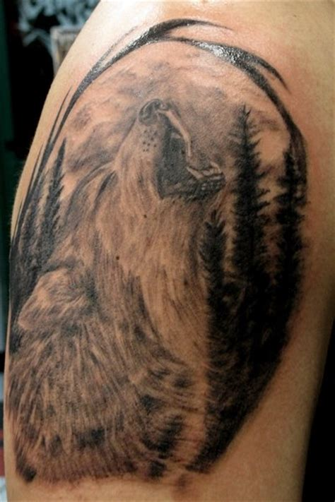 howl tattoo howling wolf by benzoart on deviantart