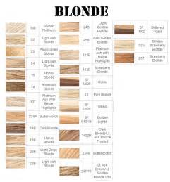 different shades of hair color chart brilliance chagne toner