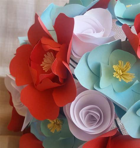 bouquet fiori carta bouquet fiori carta sposa corallo azzurro feste
