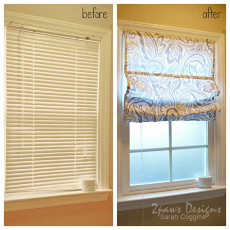 Blinds Diy Diy Roman Shades From Mini Blinds 2paws Designs