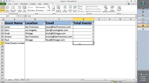 tutorial video excel 2010 microsoft excel 2010 skills test free free excel tests