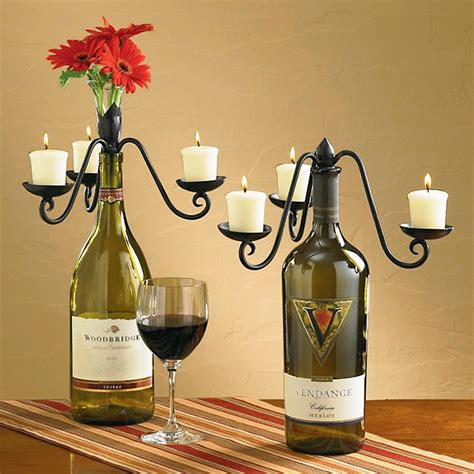 candelabra wine bottle topper ebay