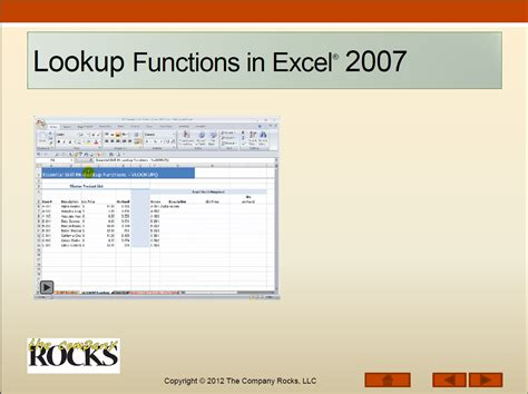 Lookup In Excel Ms Excel The Company Rocks