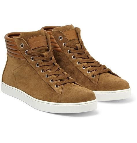 leather sneakers gianvito brady hightop suede and leather sneakers in
