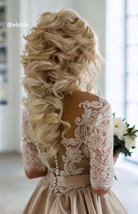 Wedding Hairstyles For Curly Hair by 60 Wedding Hairstyles With Glam Curly